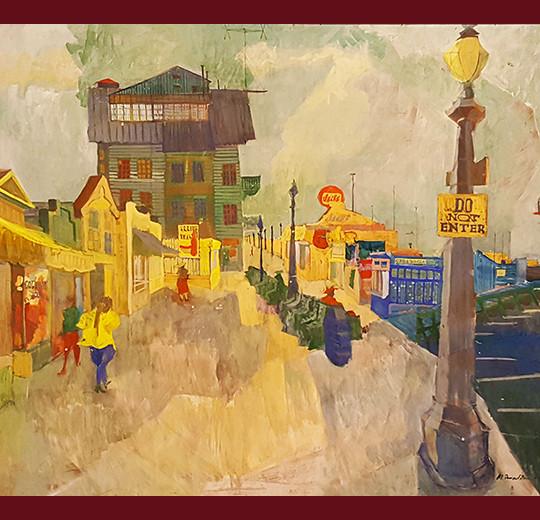 Amy Jones, painter, red barn, california fine art, fine art, oil painting, vander molen fine art gallery
