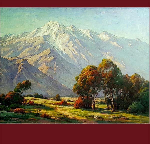 Paul Grimm, California vintage art, fine art, oil painting, sierra nevada mountains, vander molen fine art gallery