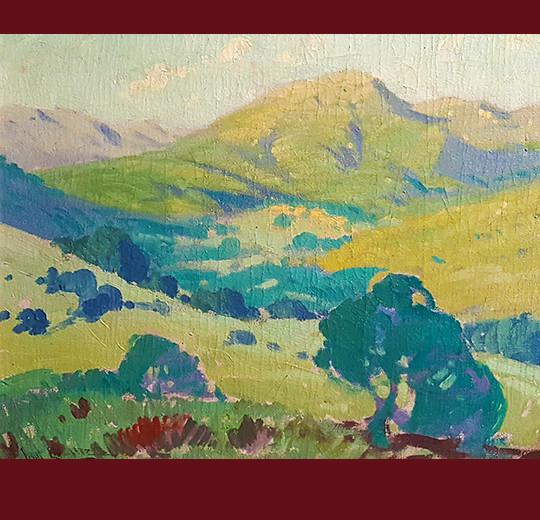 Angel Espoy, poppy fields, california vintage fine art, fine art, oil painting, vander molen fine art gallery