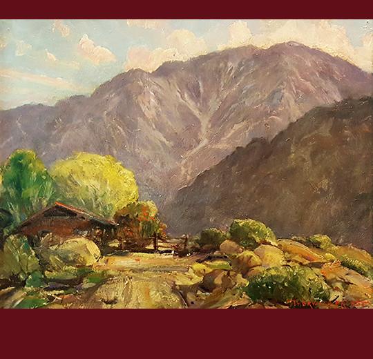 jack macartney, california artist, painter, oil painting, laguna beach, old homes, vander molen fine art